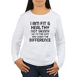I am Fit & Healthy Women's Long Sleeve T-Shirt
