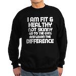 I am Fit & Healthy Sweatshirt (dark)