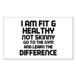 I am Fit & Healthy Sticker (Rectangle)