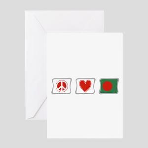 Peace, Love and Bangladesh Greeting Card
