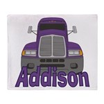 Trucker Addison Throw Blanket