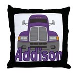 Trucker Addison Throw Pillow