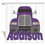 Trucker Addison Shower Curtain