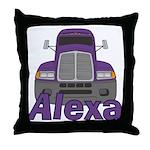 Trucker Alexa Throw Pillow