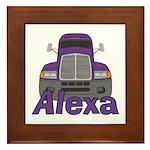 Trucker Alexa Framed Tile