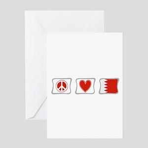 Peace, Love and Bahrain Greeting Card