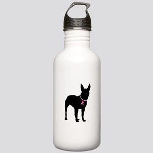 Bullterrier Breast Cancer Support Stainless Water