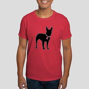 Bullterrier Breast Cancer Support Dark T-Shirt