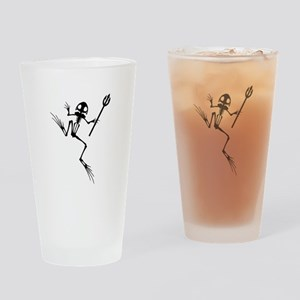 Desert Frog w Trident Drinking Glass
