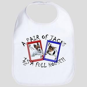 """Jack Russell Terrier """"PAIR OF JACKS"""" Bib"""