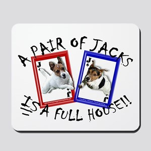 "Jack Russell Terrier ""PAIR OF JACKS"" Mousepad"