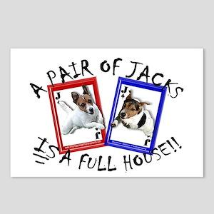 """Jack Russell Terrier """"PAIR OF JACKS"""" Postcards (Pa"""