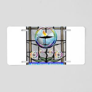 Unitarian 3 Aluminum License Plate