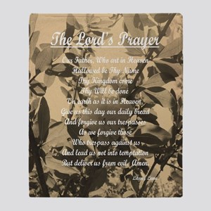 The Lords Prayer Vintage Throw Blanket