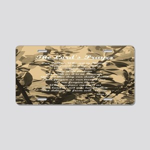 The Lords Prayer Vintage Aluminum License Plate