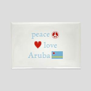 Peace, Love and Aruba Rectangle Magnet