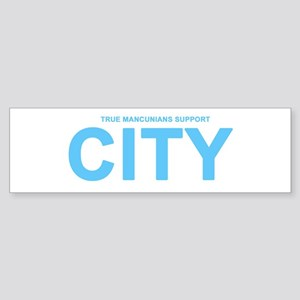 True Mancunians Support City Sticker (Bumper)