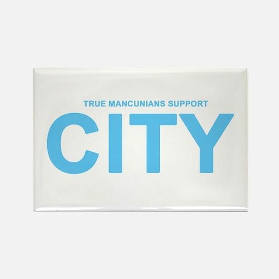 True Mancunians Support City Rectangle Magnet