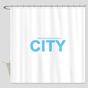 True Mancunians Support City Shower Curtain