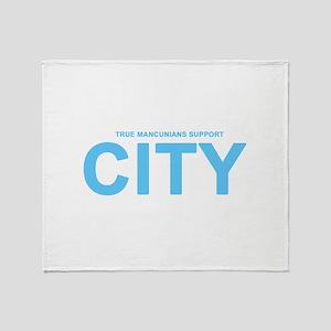 True Mancunians Support City Throw Blanket