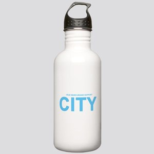 True Mancunians Support City Stainless Water Bottl