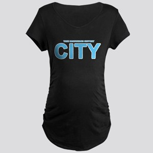 True Mancunians Support City Maternity Dark T-Shir