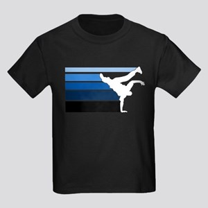 Break lines blu/wht Kids Dark T-Shirt