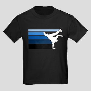 Break lines blu/wht Kids Dark T-Shirt