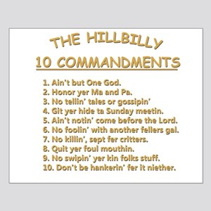 The Hillbilly 10 Commandments Small Poster