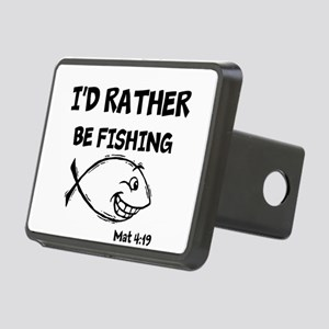 ID RATHER BE FISHING Rectangular Hitch Cover