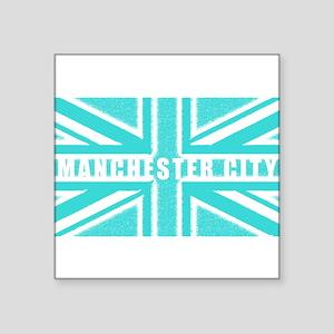 "Manchester City Union Jack Square Sticker 3"" x 3"""