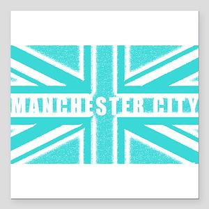 """Manchester City Union Jack Square Car Magnet 3"""" x"""