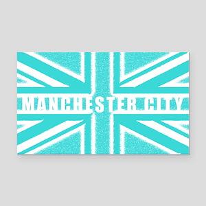 Manchester City Union Jack Rectangle Car Magnet