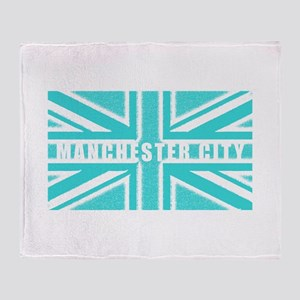 Manchester City Union Jack Throw Blanket