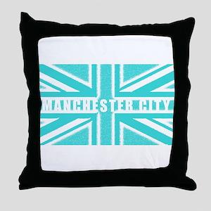 Manchester City Union Jack Throw Pillow