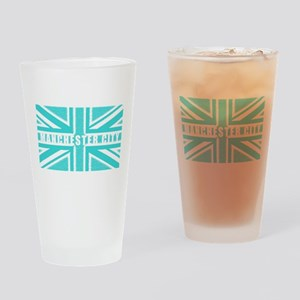 Manchester City Union Jack Drinking Glass