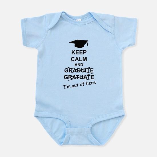 Keep Calm Graduate Infant Bodysuit