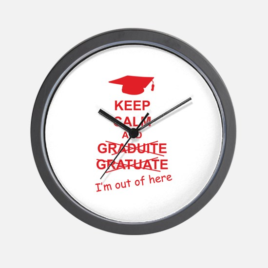 Keep Calm Graduate Wall Clock