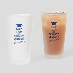 Keep Calm Graduate Drinking Glass