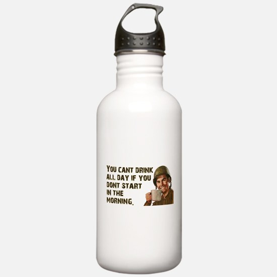 Sometimes You Have To Start Early Water Bottle