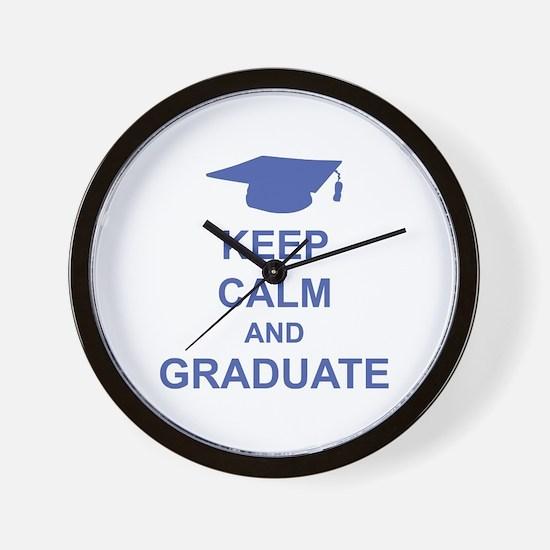 Keep Calm and Graduate Wall Clock