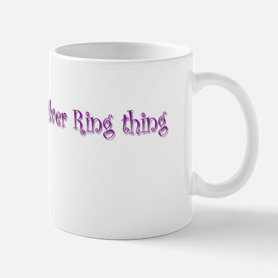 my own silver ring thing  Mug