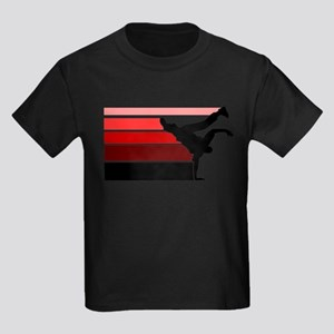 Break lines red/blk Kids Dark T-Shirt