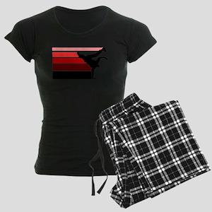 Break lines red/blk Women's Dark Pajamas