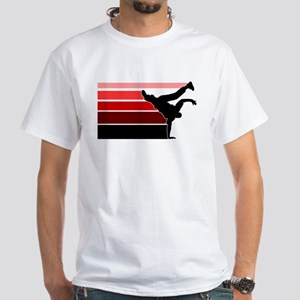 Break lines red/blk White T-Shirt