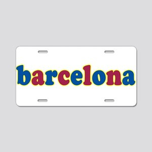 Barcelona Aluminum License Plate