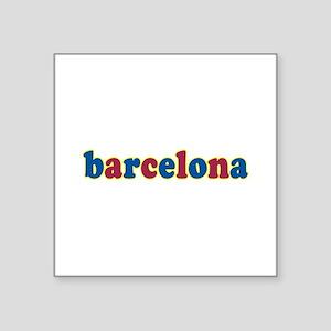 """Barcelona Square Sticker 3"""" x 3"""""""