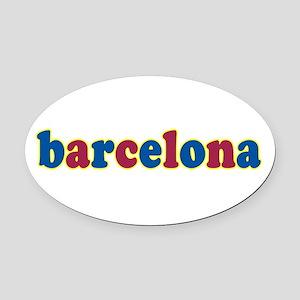Barcelona Oval Car Magnet