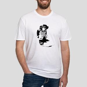 Surf Monkey Black Outline T-Shirt