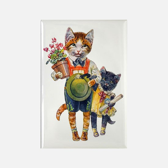 Cute Cats Bearing Gifts Rectangle Magnet (100 pack